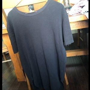 Zara Man Black Waffle T Shirt